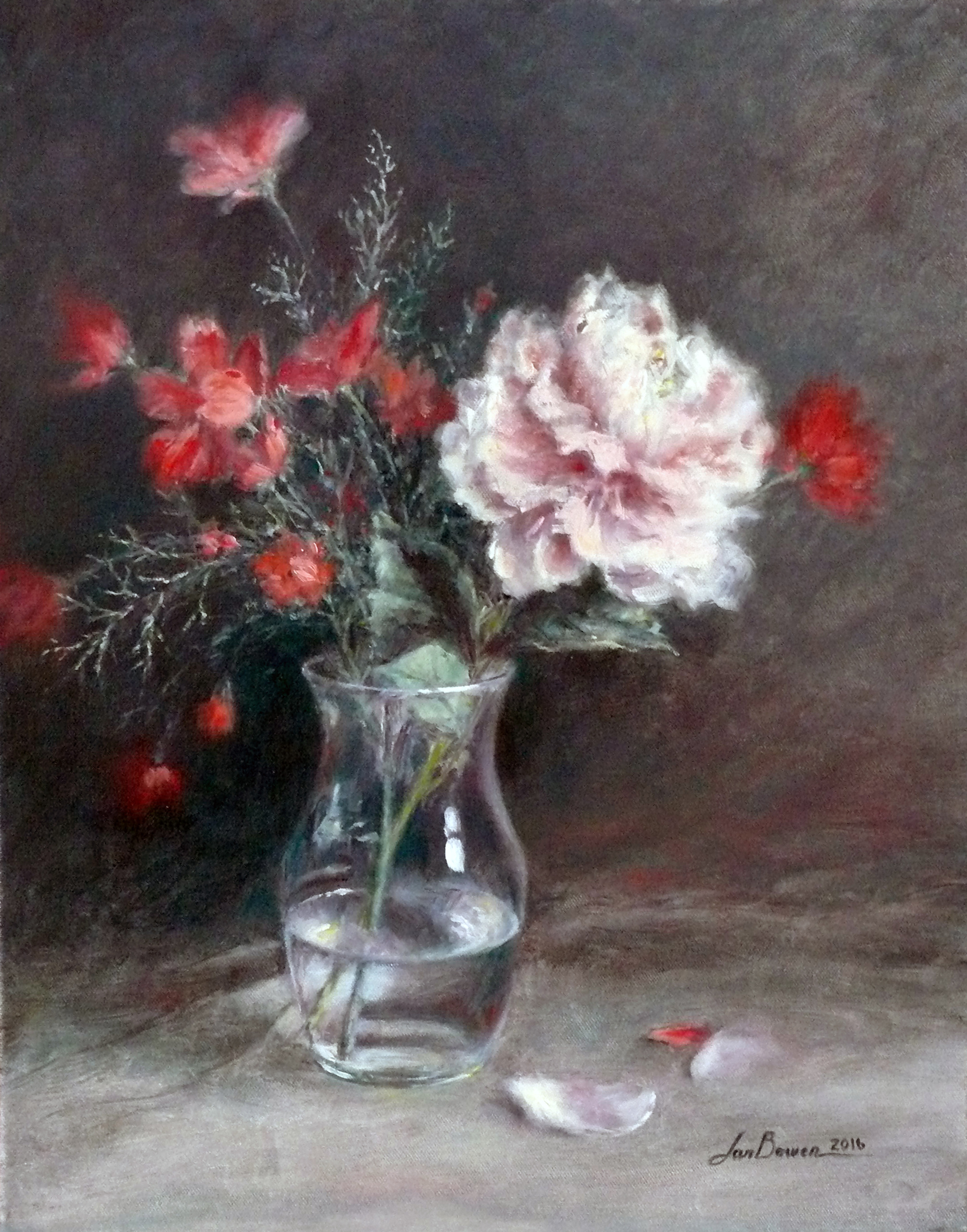 Flowers in clear glass vase print reviewsmspy